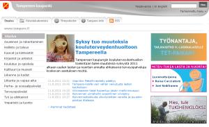 Tampereen kaupungin etusivu 13.8.2011.