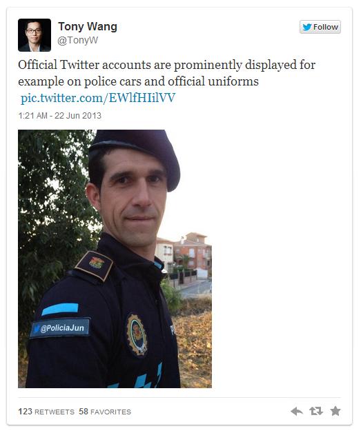 Espanjalaisessa Junin kylässä voi tviitata poliisille.