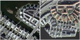GoogleMapsin ilmakuva mahdollistaa vaikkapa korttelirakenteiden vertailun.